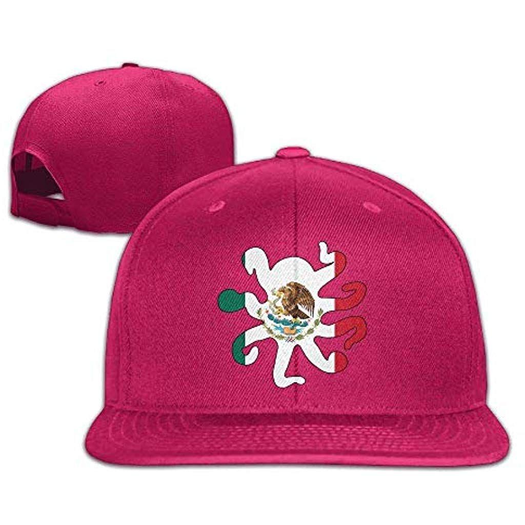 dc0c2ad09 Mexico Flag Octopus Shaped Baseball Caps for MenWomen Flat Bill ...