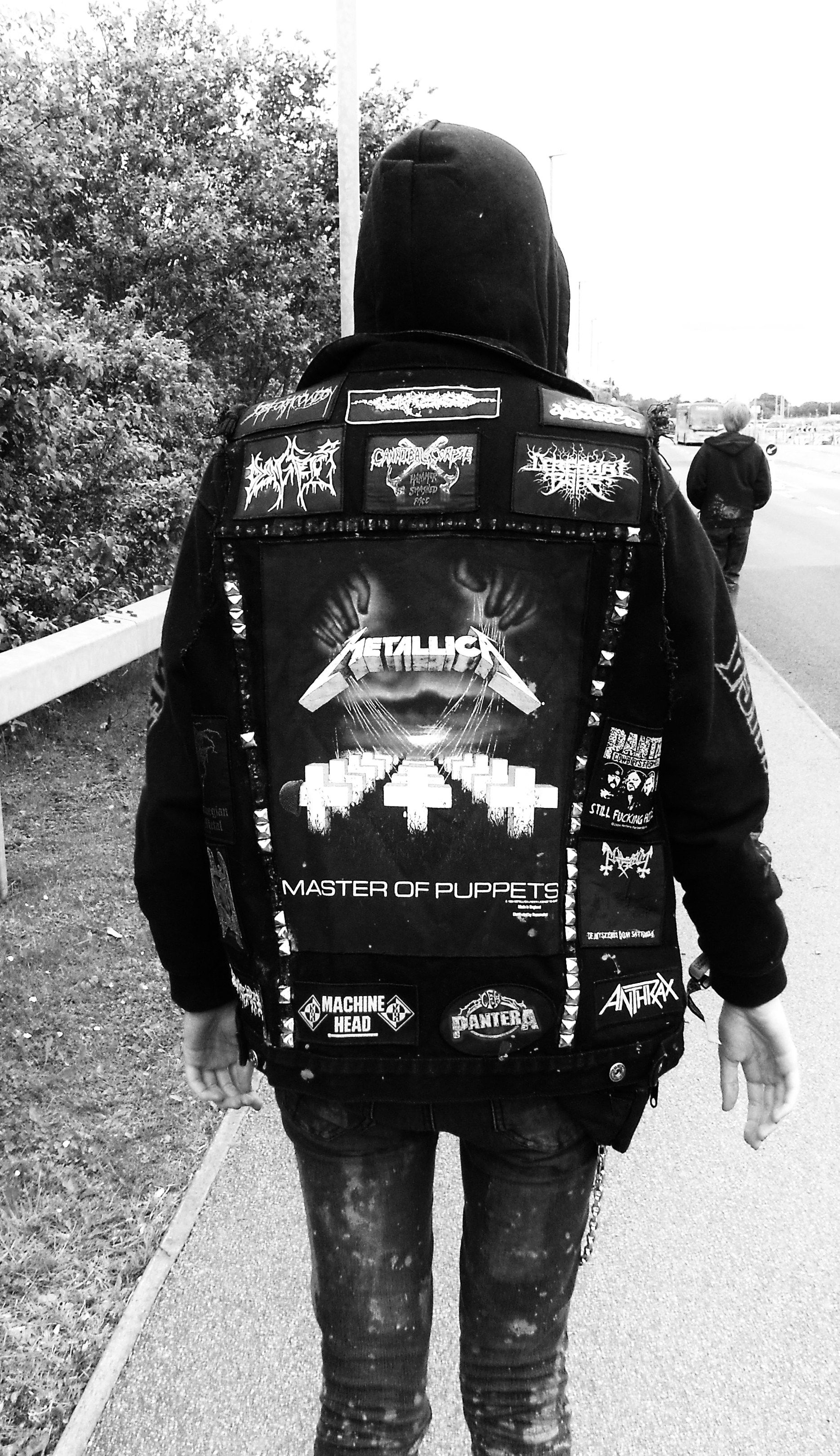 """Previous Pinner said: """"Shot of my battle jacket taken at Download Festival. Oh lord look at my jeans..."""""""