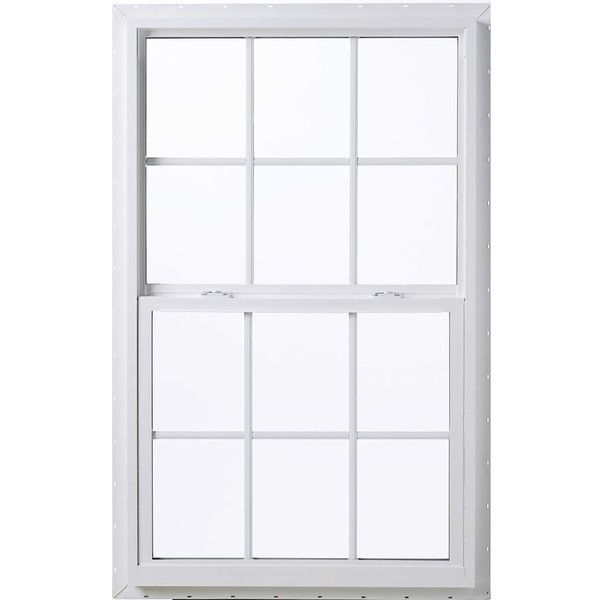 Thermastar By Pella Vinyl Double Pane Annealed Single Hung Window 105 Liked On Polyvore Featuring H Single Hung Windows Single Hung Vinyl Windows Pella