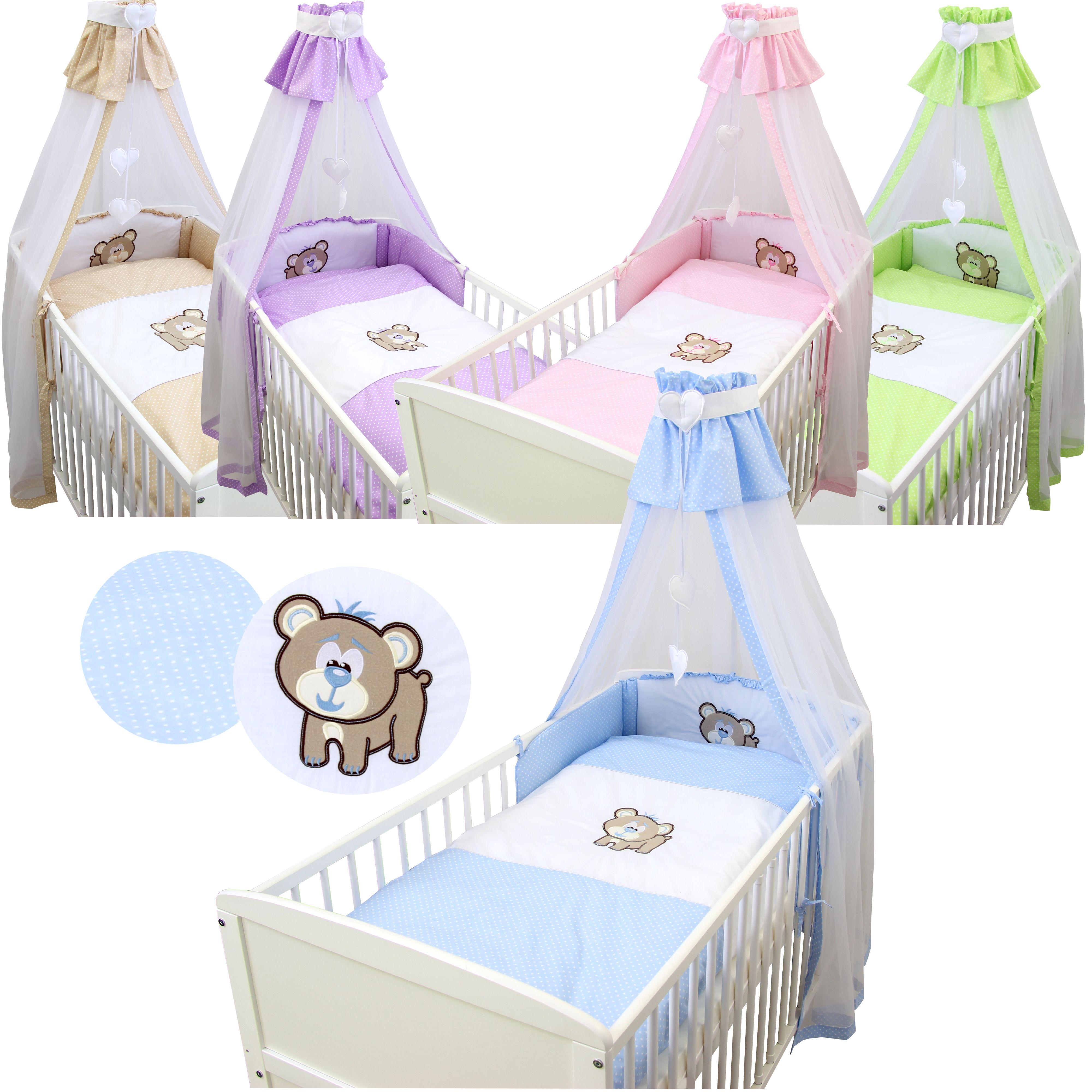 Ab 4799 5 7tlg Baby Bettset Kinder Bettwäsche Set Decke