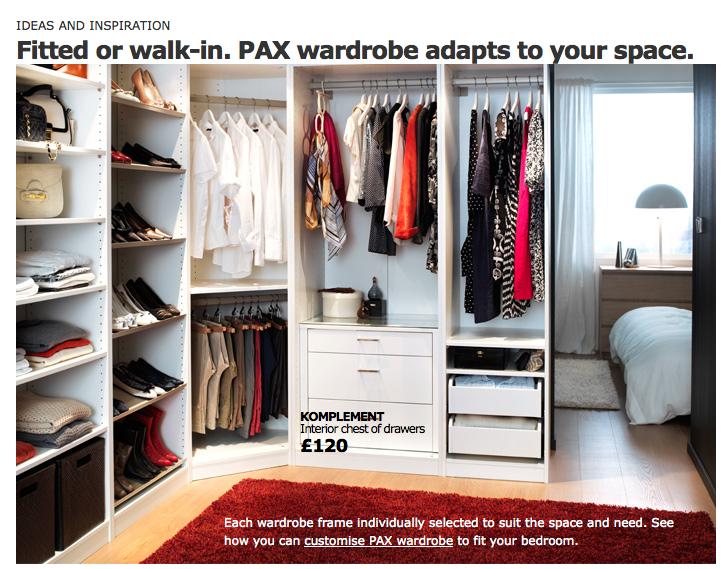 ikea pax wardrobe idea 5 wardrobe pinterest armario alcoba y hogar. Black Bedroom Furniture Sets. Home Design Ideas