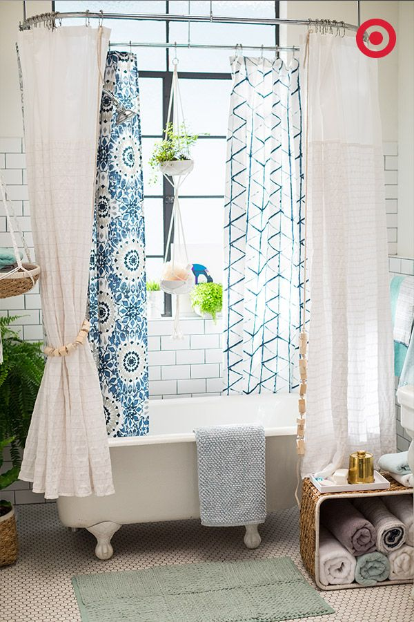 Hereu0027s One Way To REALLY Refresh Your Bathroom: Mix A Few Different Shower  Curtain Styles Together. Donu0027t Be Afraid To Mix Colors And Patternsu2014a  Little ...