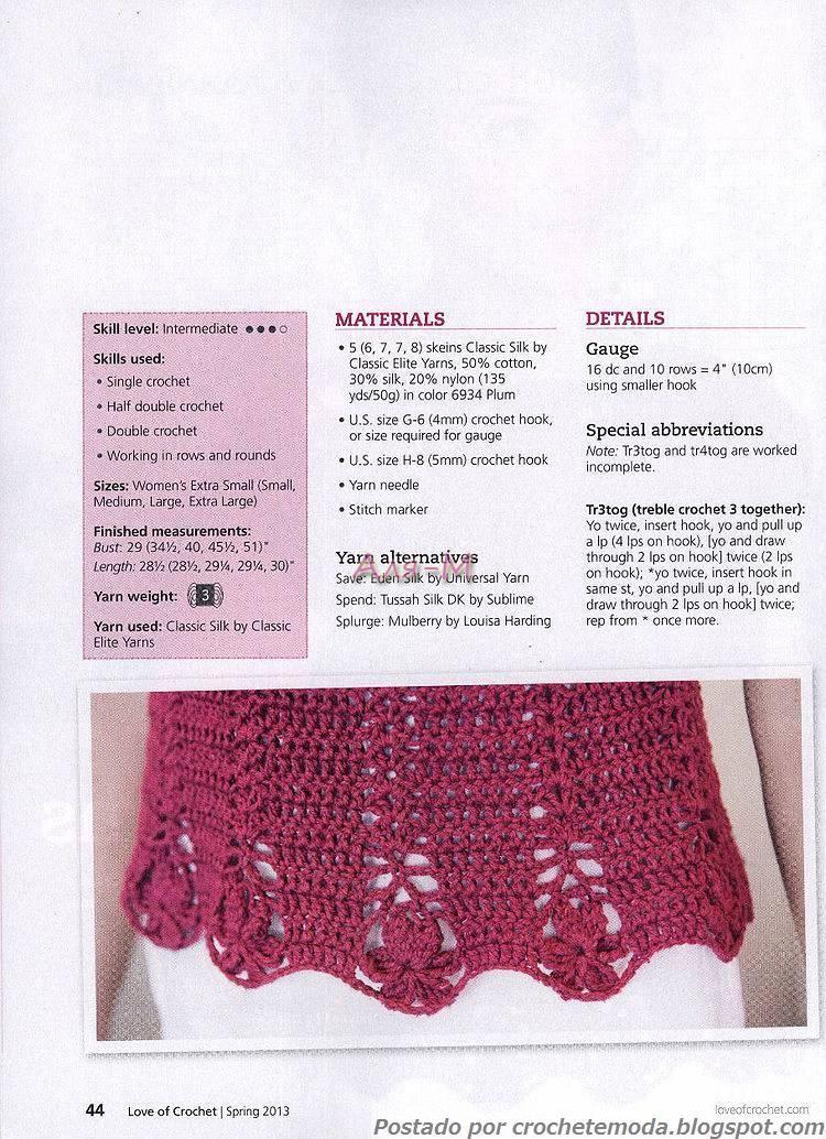 Crochetemoda Blog | tejidos blusita | Pinterest | Blusas, Blusas de ...