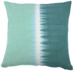 Tie Dye Halves Pillow Sea Green Teal is part of Modern Home Accents Texture - Jiti Home offers a wide selection of handmade, contemporary home decor ranging from embroidered pillows, poufs & ottomans, throws, and modern accents  The vibrant collection combines a wide range of colors, visually appealing patterns, and rich textures, with a design philosophy that seamlessly infuses global design influences into modern living  Tiedyed details give this linen pillow a casual elegance  A plush featheranddown insert ensures longlasting comfort  SolidFeaturesTie Dye collectionInsert includedRemovable coverDry clean onlyVegetable hand dye