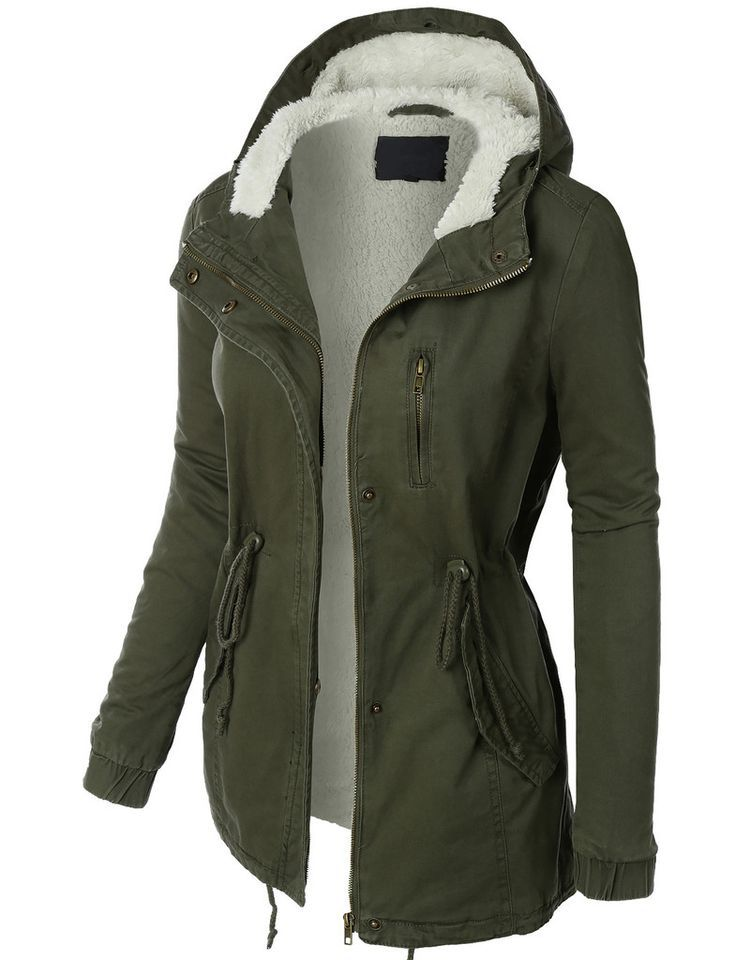 nice LE3NO Womens Sherpa Lined Anorak Parka Jacket with Hoodie ...