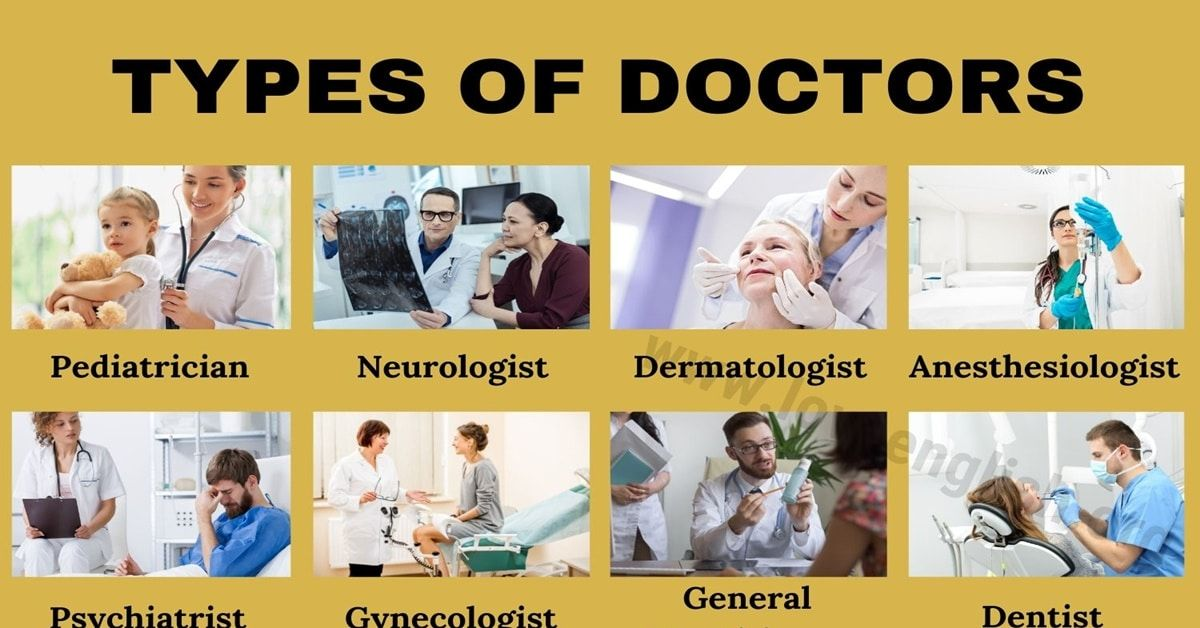 kinds of doctors list and what they do
