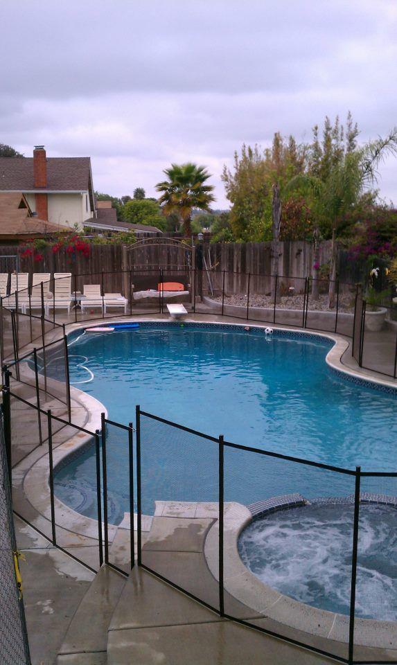 All black swimming pool fencing San Diego, California Pool Fences