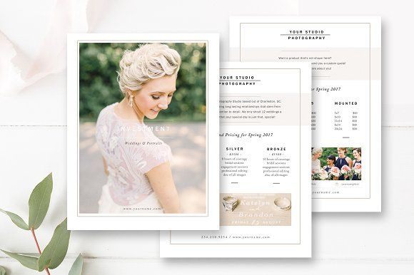 Photographer Pricing Guide Set Template, Wedding and Wedding - guide templates