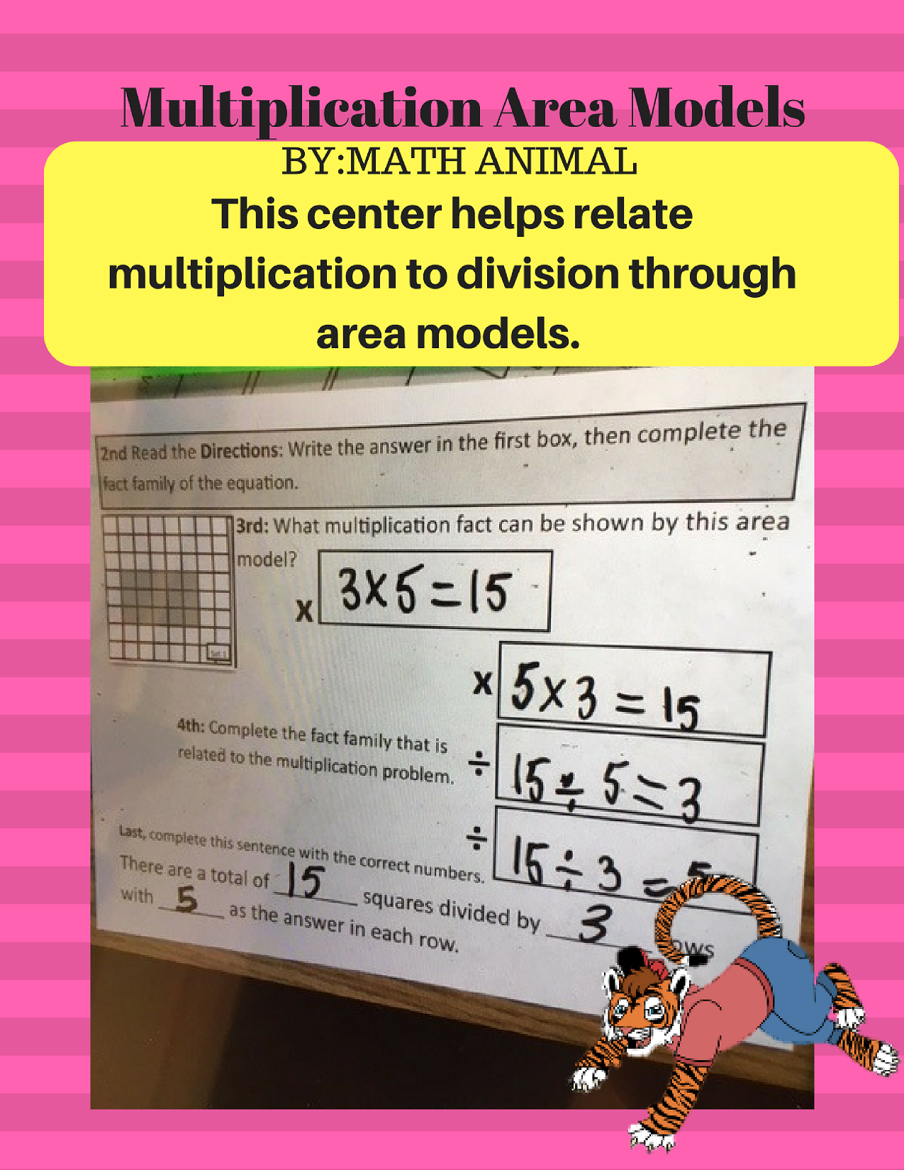 Multiplication And Division Area Models Center