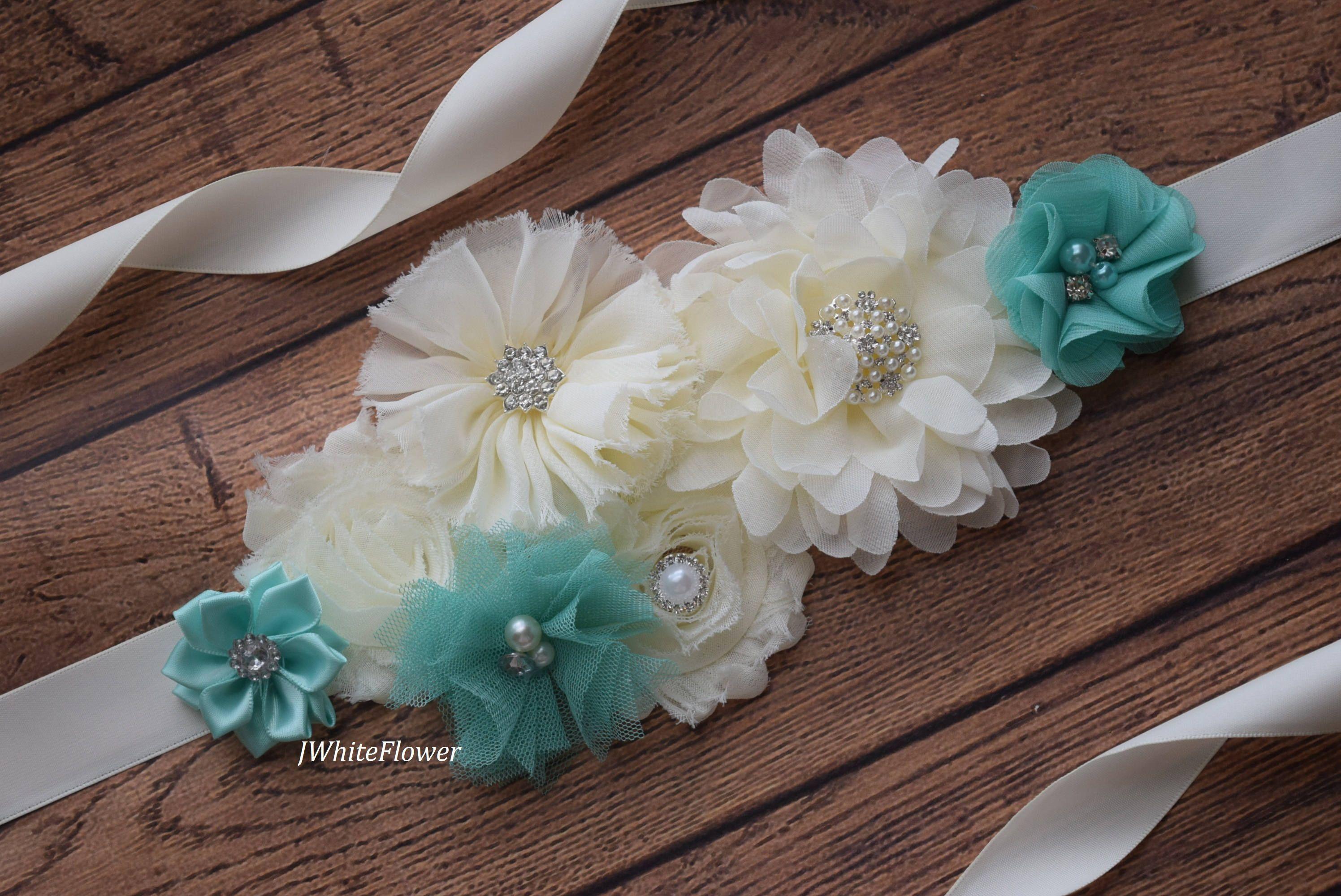 Marco marfil Aqua flor cinturón faja maternidad marco de   collares ...