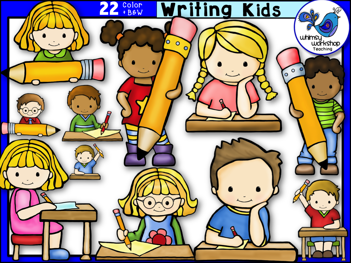 writing kids clip art clip art  writing skills and students students in classroom clipart black and white students in classroom clip art image