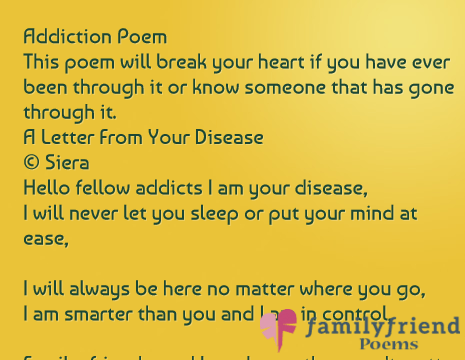 Addiction Poem This poem will break your heart if you have ever been
