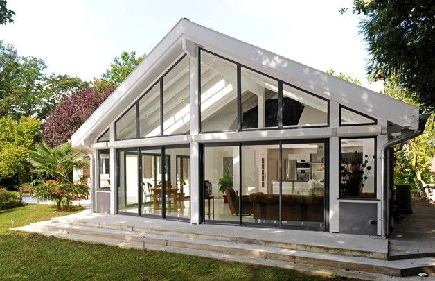 photo vie v randa design jardin pinterest veranda maison et extension maison. Black Bedroom Furniture Sets. Home Design Ideas