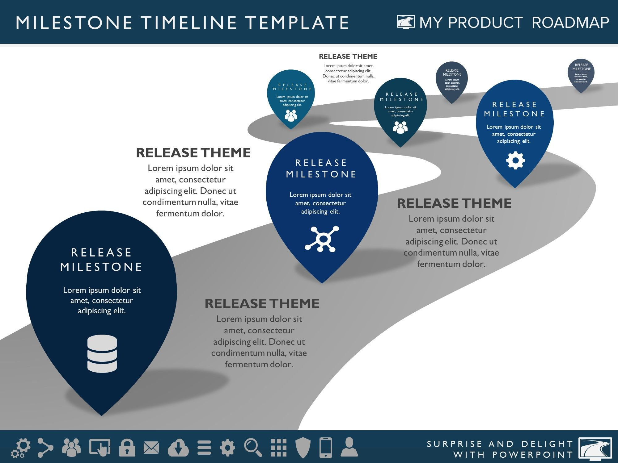 Clean Timeline Template For Powerpoint  Timeline Design Timeline