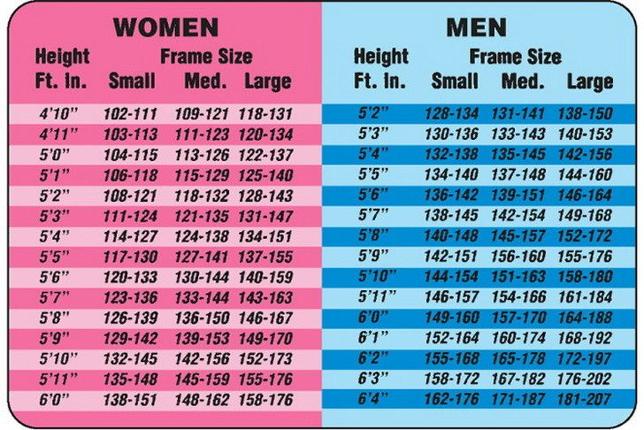 muscle mass index chart