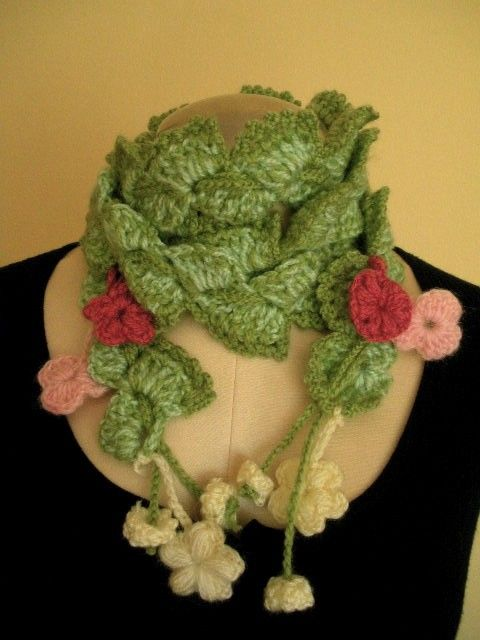 Trendy Green Skinny Scarf by Fistan on Etsy, $40.00