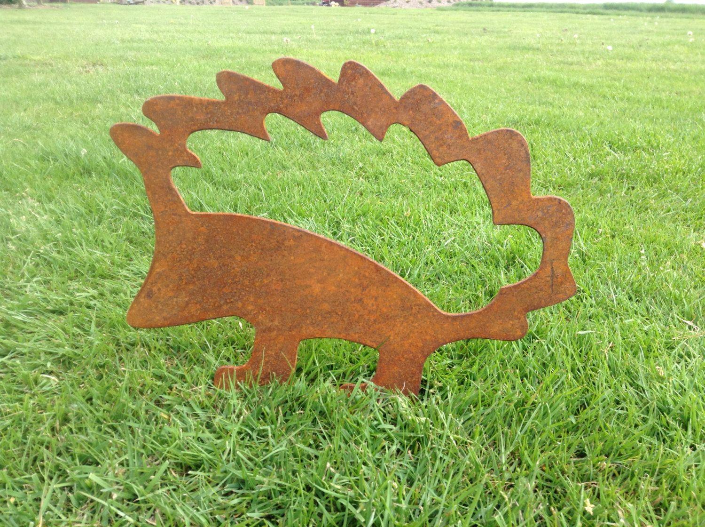 Rusty Hedgehog Metal Garden Art / Metal Hedgehog Silhouette / Garden ...