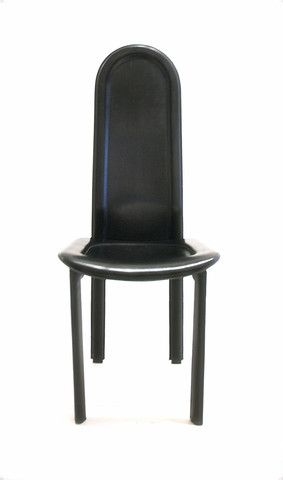 Set Of Artedi Chairs In Black Leather Black Leather Dining Chairs Chair Black Leather