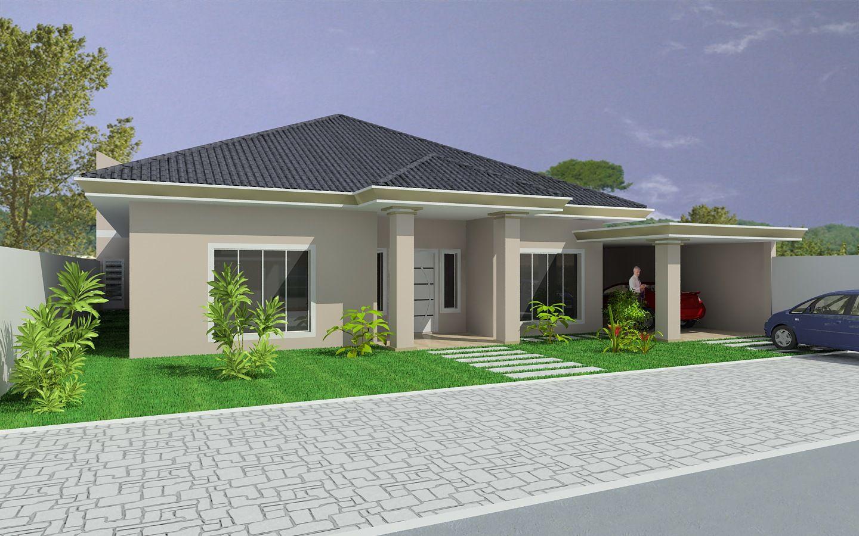 Projetos de casas t rreas com 3 quartos casa terrea for Modelos de casas de 3 dormitorios