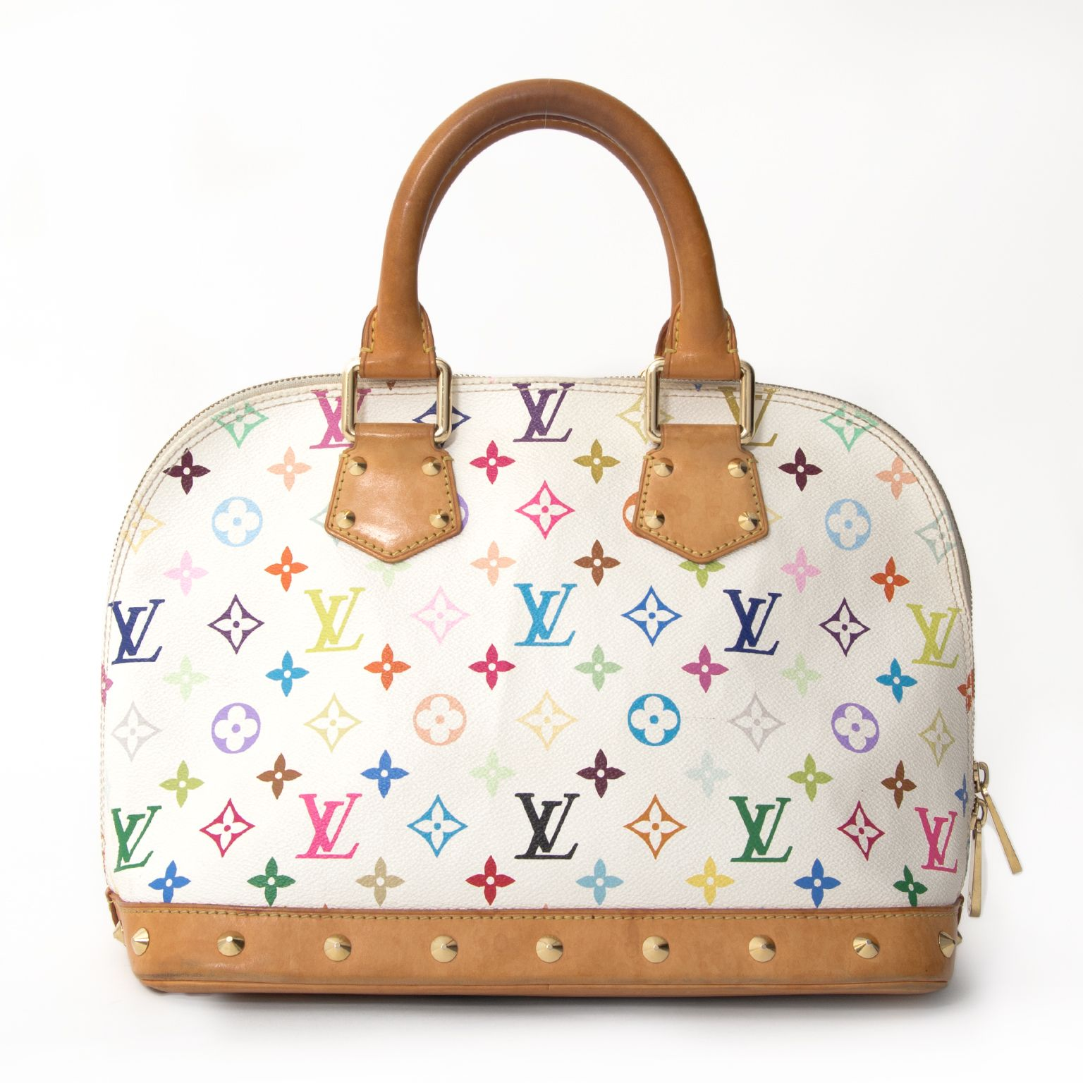 54cbb5a85e550 Louis Vuitton Murakami Multicolore Monogram White Alma