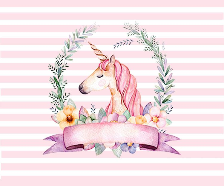 White Pink Striped Unicorn Theme Photography Backdrop Flower Girls Birthday Party Backgrounds For Photo Studio 7x5 Unicorn Art Unicorn Artwork Unicorn Pictures