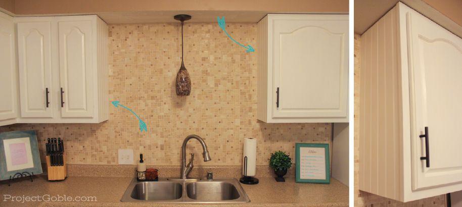 DIY Beadboard on White (Painted) Kitchen Cabinets   DIYs ...