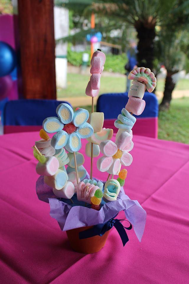 Centro De Mesa De Golosinas Ideias Para Festa Infantil Decoração Festa Infantil Festa