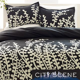 $53.99 City Scene Branches Black 7-piece Bed in a Bag with Sheet Set