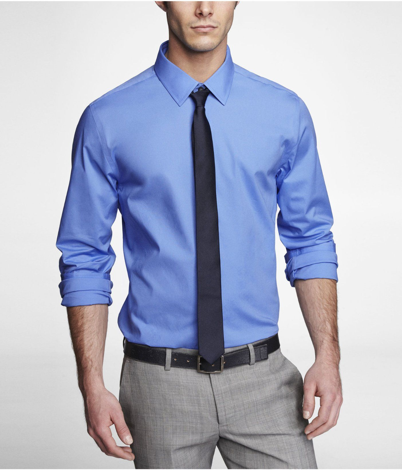 MODERN FIT 1MX STRETCH COTTON SHIRT | Express | Fashion | Pinterest
