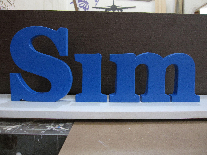 ARTESANATO EM MDF, recorte de letras em mdf de 20 mm, pintado.