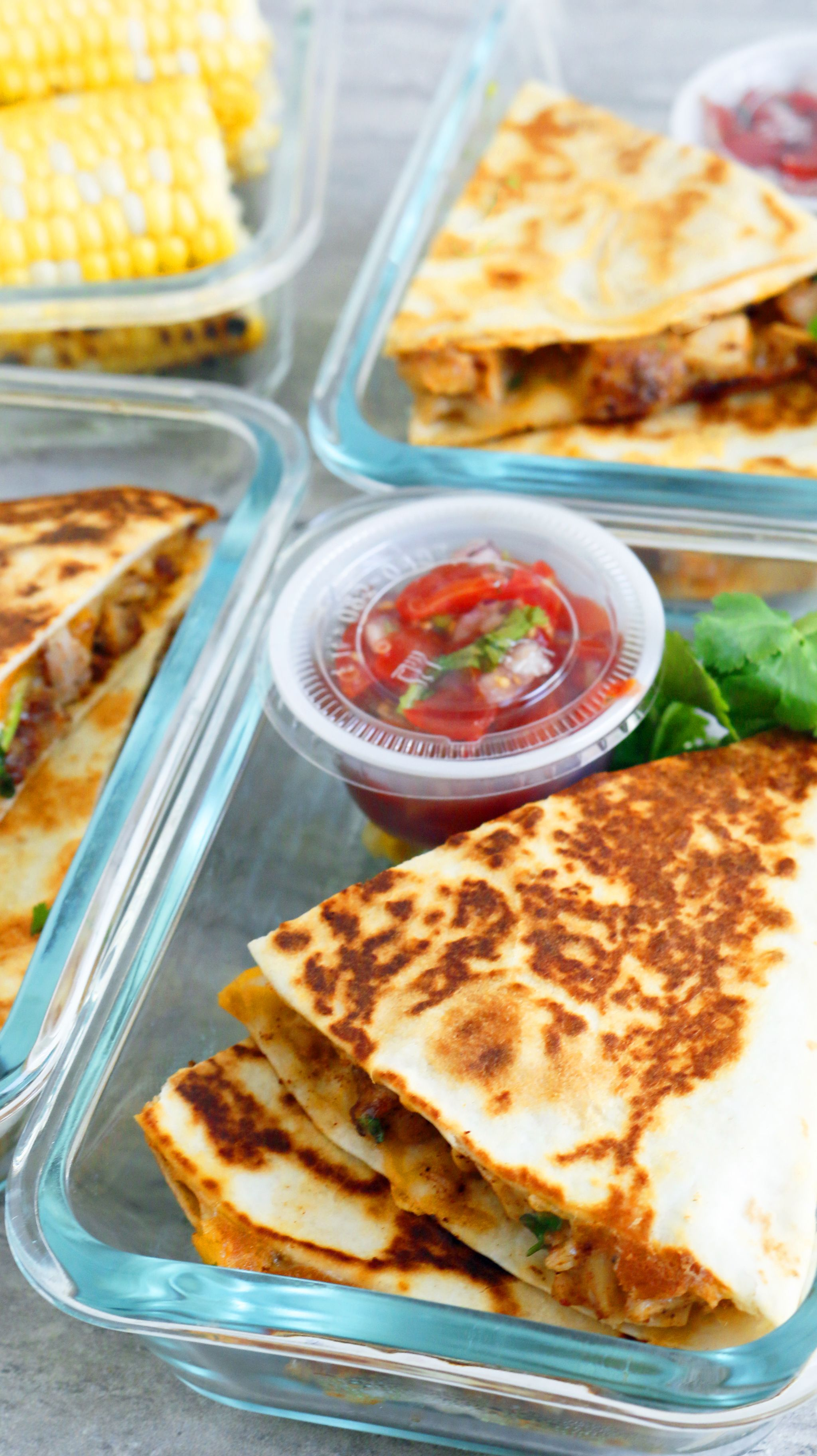Spicy Chicken Ranch Quesadilla + Meal Prep - Kitchen @ Hoskins
