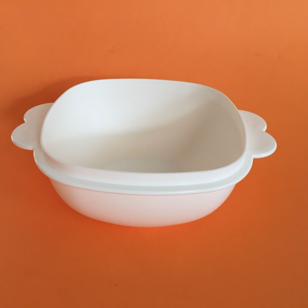 Tupperware White Servalier 2511a 11 6 1 2 Cup Bowl No Lid Euc Replacement