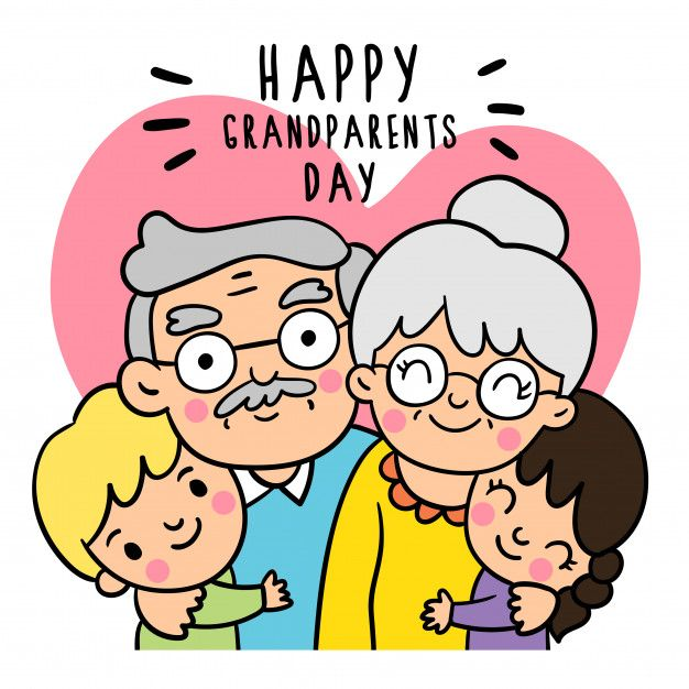 Draw Doodle Styles Of Grandparents Day Happy Grandparents Day Family Drawing Grandparents Day Cards