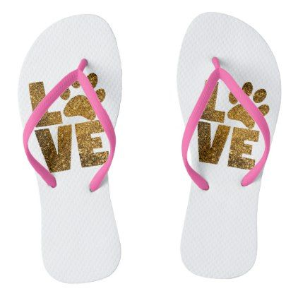 b13eb14e38557 Paw Love Flip Flops - dog puppy dogs doggy pup hound love pet best friend