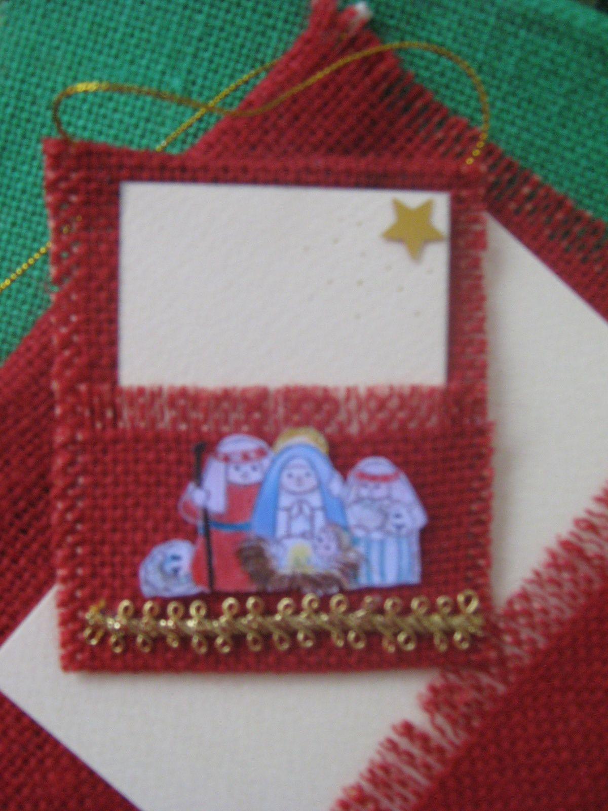 Small jute card. It can be used as card presents or invitations. Tarjeta pequeña en Yute. Puede usarse como tarjeta para regalo o para invitaciones.