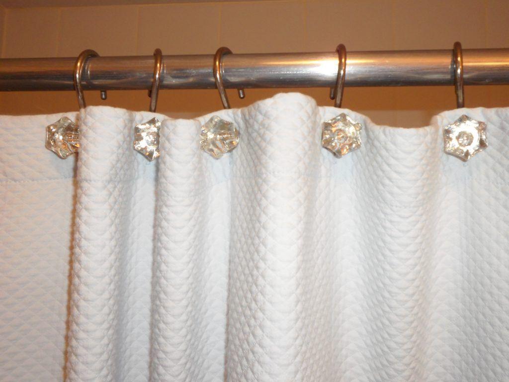 Diamond Shower Curtain Hooks Shabby Chic Shower Shabby Chic