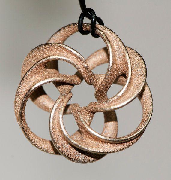 Stainless steel pendant, Scherk minimal surface toroid - 2.7 cm 3D printing