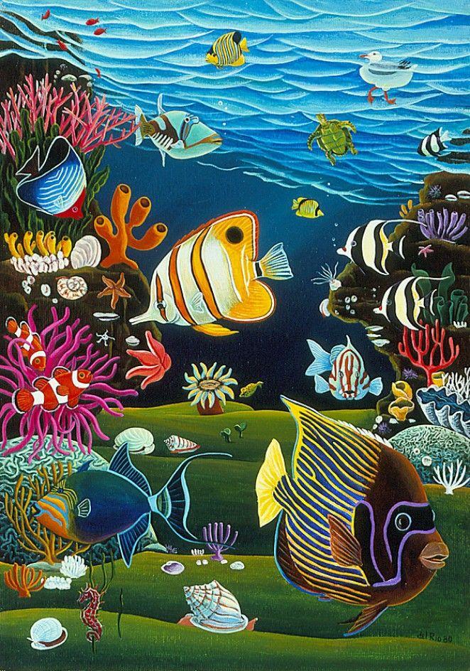 Coral Reef | Raul Del Rio Productions | Fish art ...