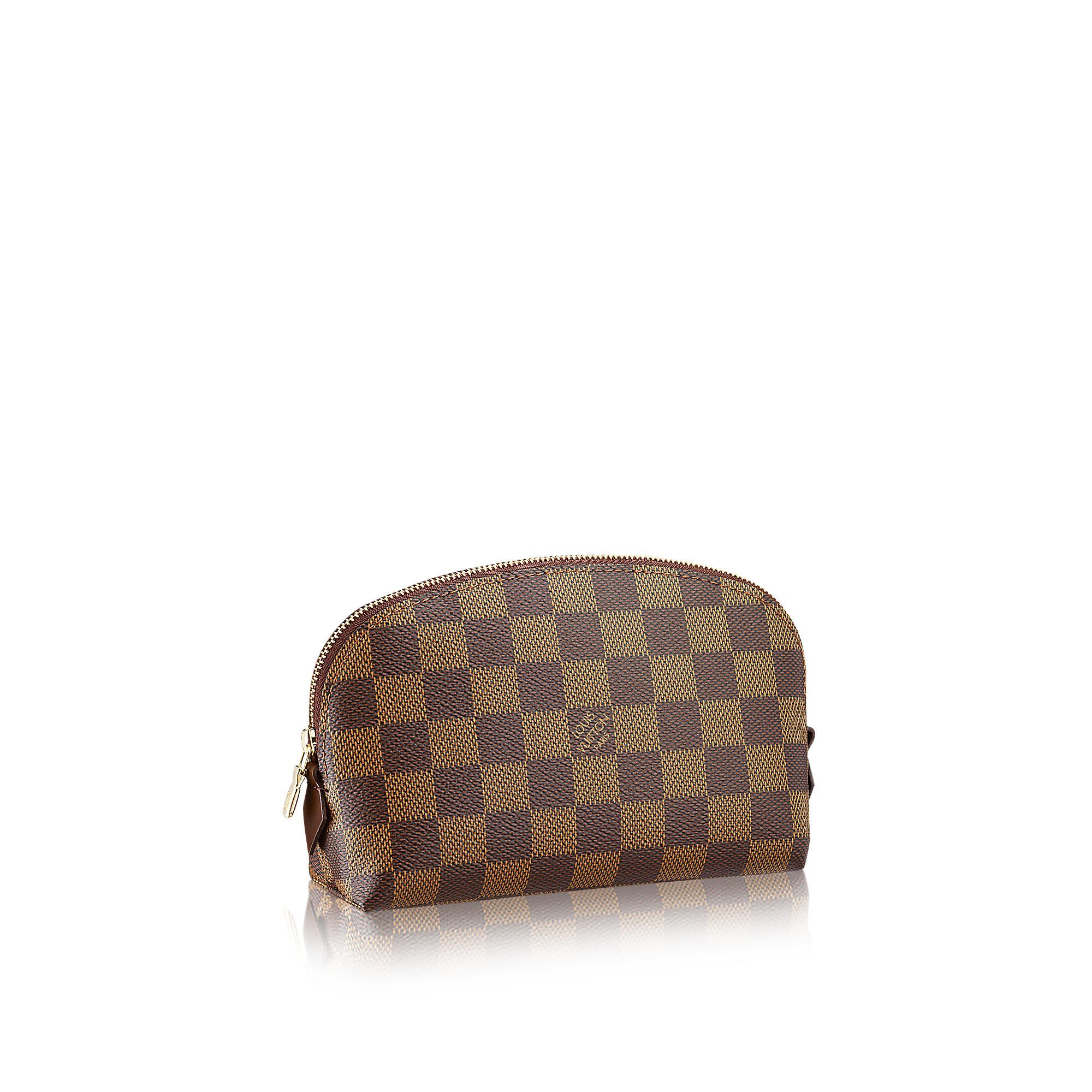 Louis Vuitton Cosmetic Pouch PM in Damier Ebene Canvas