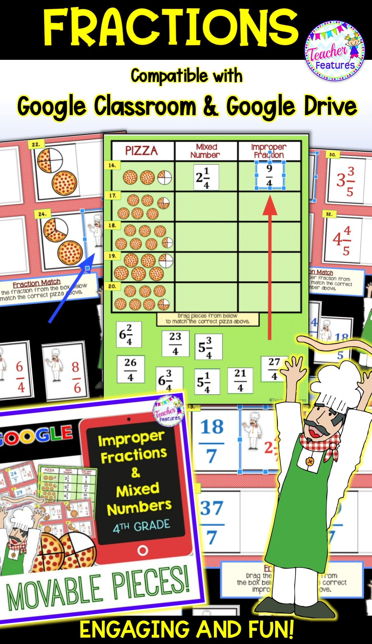 Classroom Math Classroom Fractions Mixed Numbers Teaching