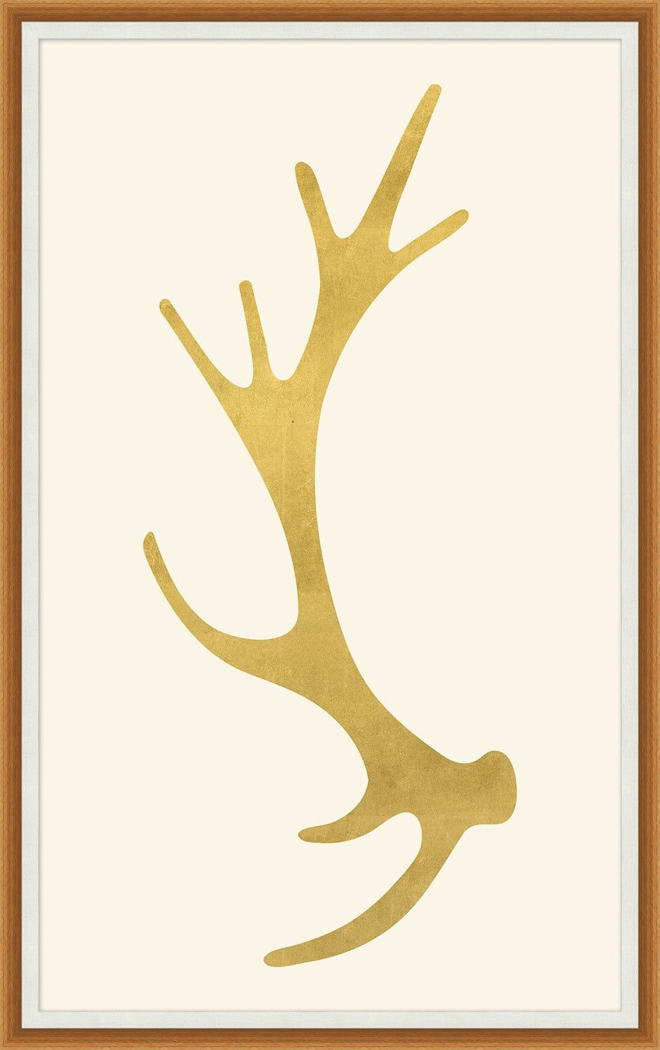 WAN1010 Gold Antler 1 - Animals - Our Product 33.75 x 53.75 $847.50 ...
