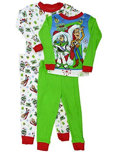 dd2ff88328 Toy Story Buzz Lightyear   Woody Toddler Boys Christmas Pajama Set 2-Pack    niftywarehouse.com