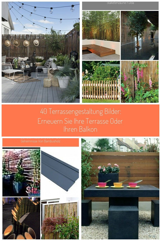 Moderne Terrassengestaltung Bilder Einrichtungsbeispiele Bambus