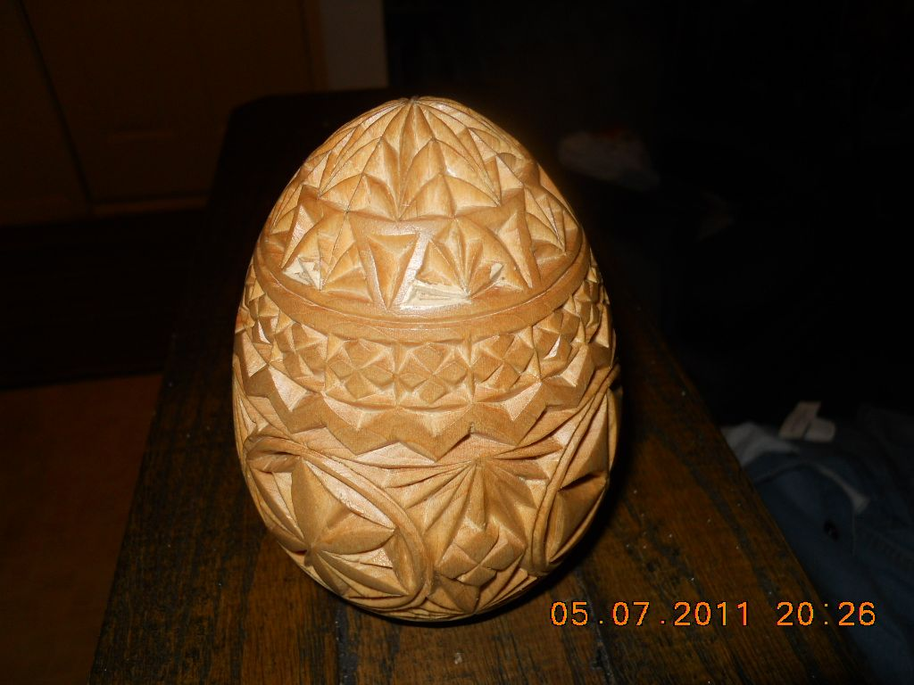 Carve wood eggs here is an exa mp le of what called