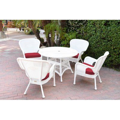 Bay Isle Home Smiley 9 Piece Dining Set With Cushions Color White