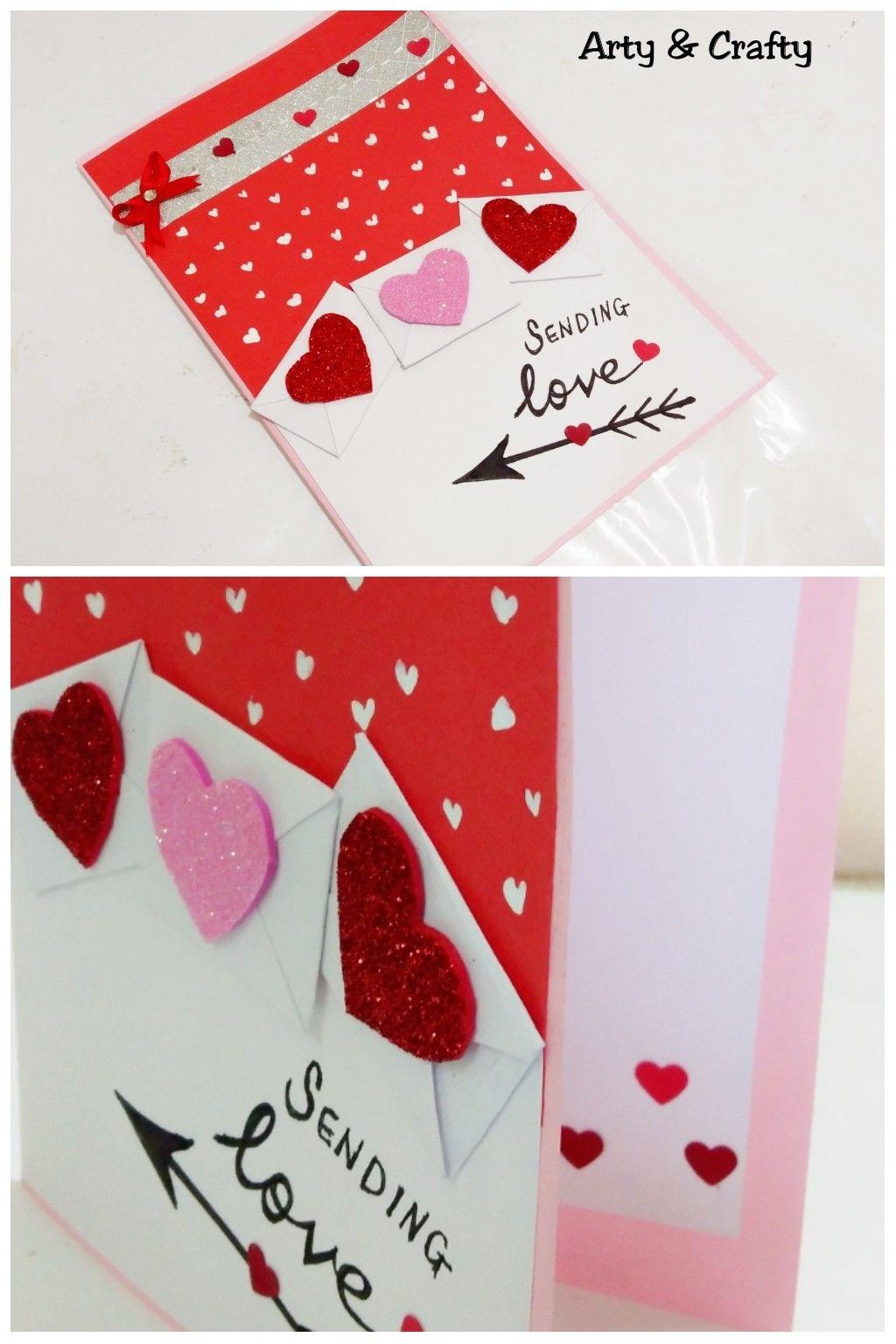 Valentine Day Card Handmade Card Ideas Anniversary Card Easy Card For Boyfriend By Arty Crafty Simple Cards Cards Handmade Anniversary Cards