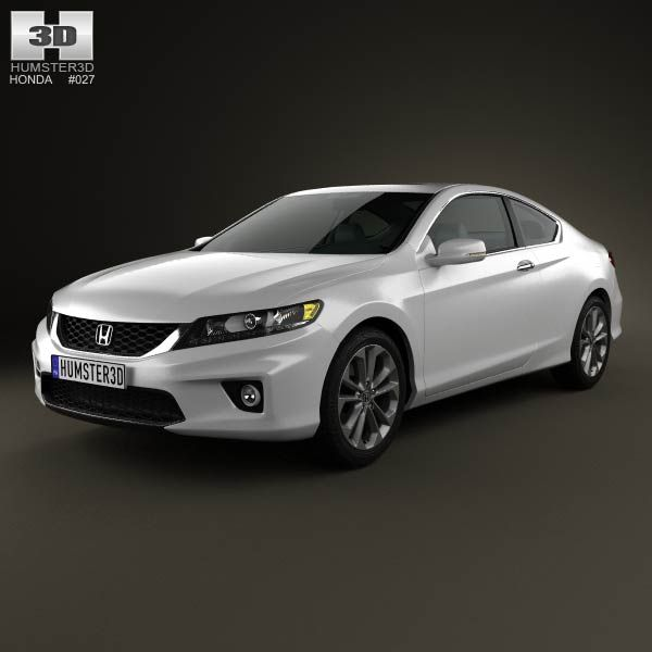 Honda Accord Coupe 2013 3d Model From Humster3d.com. Price