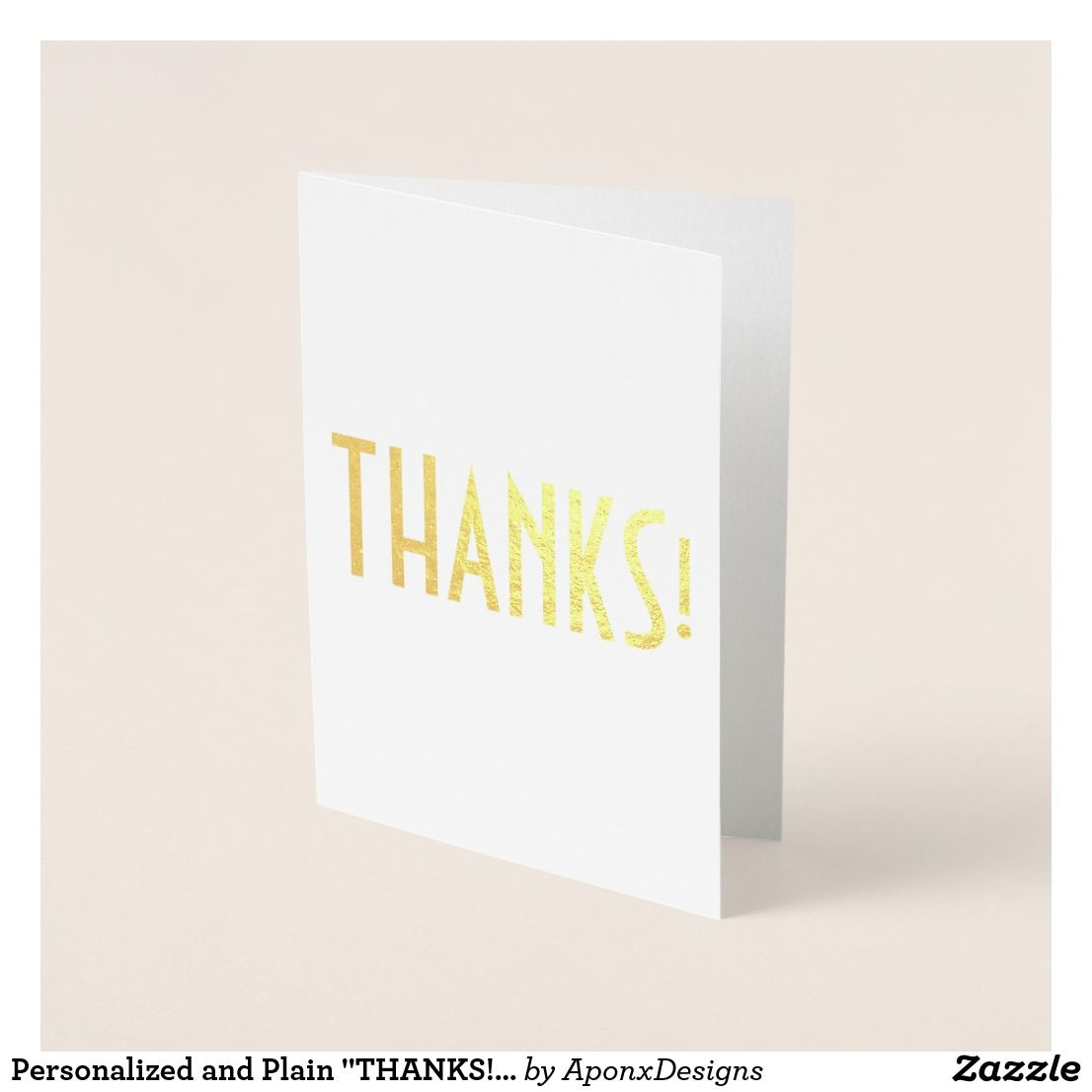 Personalized And Plain Thanks Card Thank You Greeting Cards