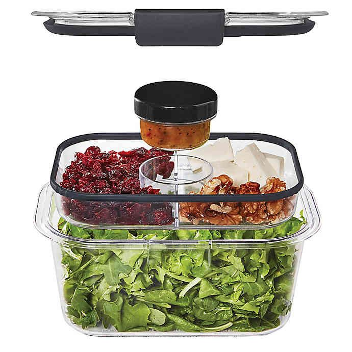 Rubbermaid Brilliance 5 Cup Salad Storage Container In 2020 Best Meal Prep Containers Lunch Storage Containers Food Storage Containers