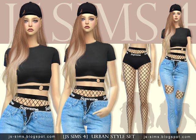 2070e667a21 JS SIMS 4] Urban Style Set | JS SIMS | My favs | Js sims 4, Js sims ...